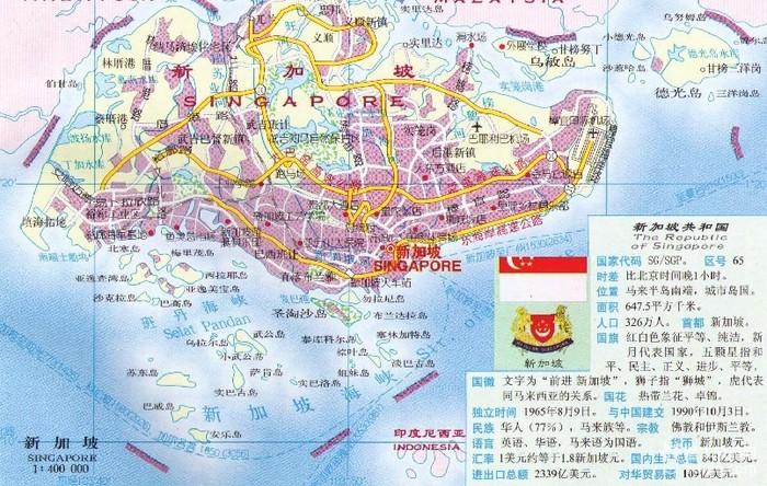 新加坡旅游地图