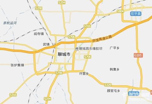 山东省高速公路地图 德商高速公路河南范县段全长19