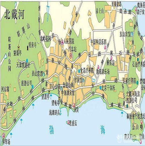 【北戴河旅游攻略】北戴河旅游地图