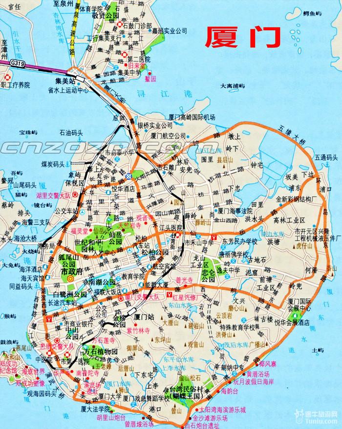 厦门旅游地图,厦门旅游景点地图,厦门旅游手绘地图 ...