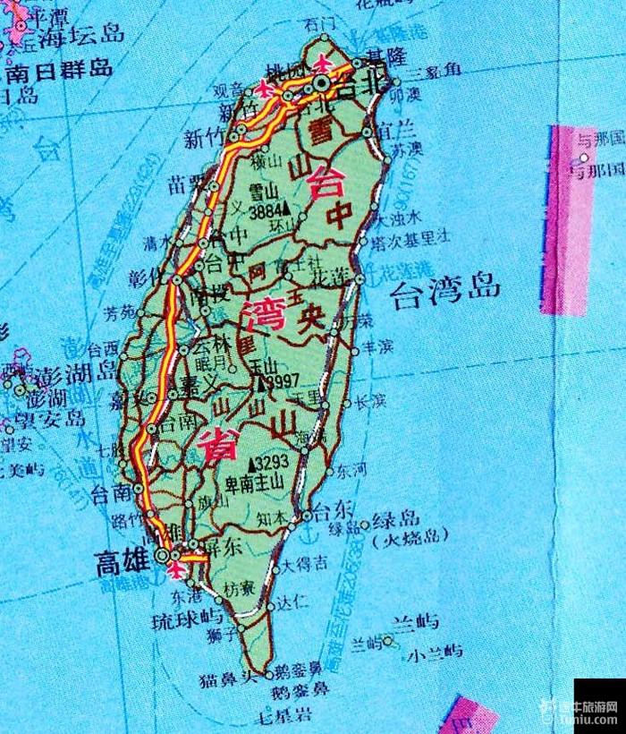 【台湾旅游攻略】台湾旅游地图