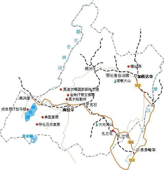 69 内蒙古旅游论坛 69 【海拉尔旅游攻略】海拉尔旅游地图