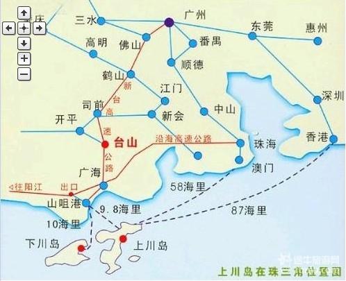 【上川岛旅游攻略】上川岛旅游地图