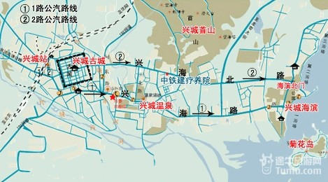 【兴城旅游攻略】兴城旅游地图