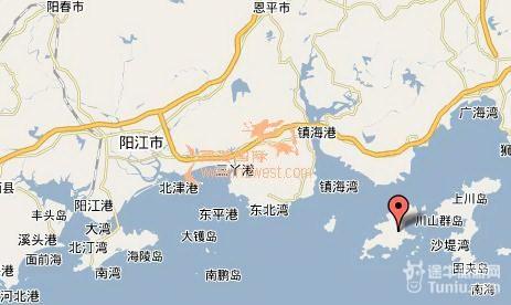 旅游攻略】下川岛旅游地图                      下川岛位于台山市