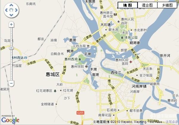 (惠州市地图)