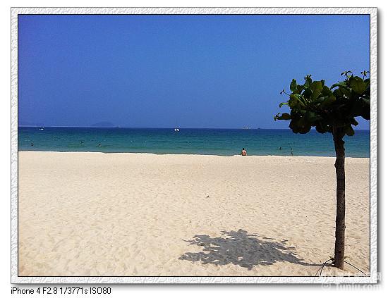 但依旧没有泰国沙美岛的沙滩好
