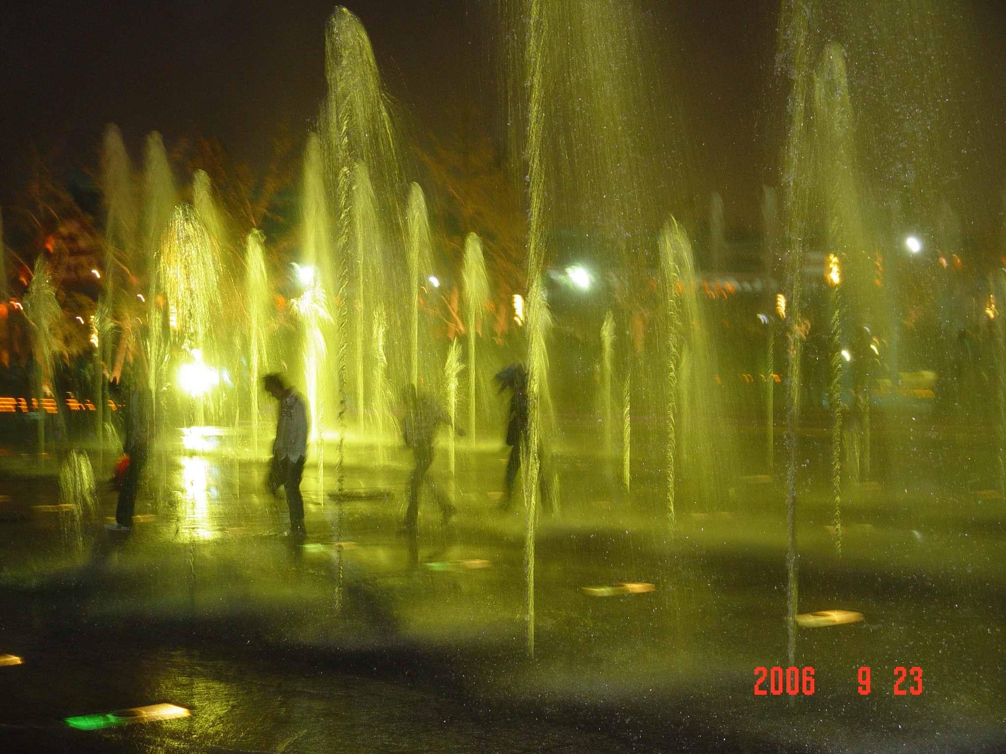 大雁塔 西安 陕西 大雁塔北广场音乐喷泉