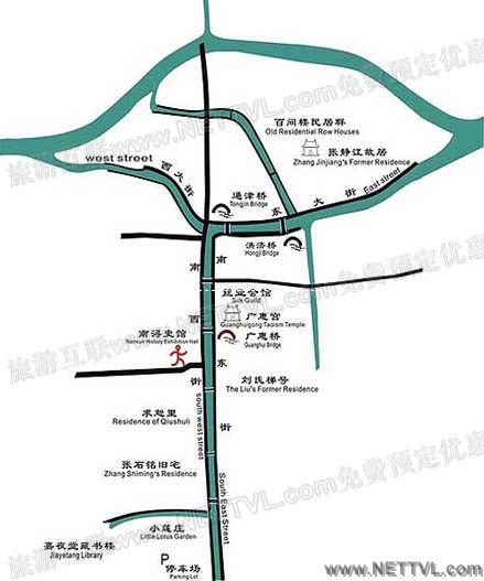 南浔 湖州 浙江 a南浔古镇地图(新)
