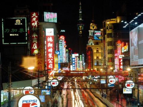 上海南京路步行街12夜景 南京路步行街的照片 黄浦 上海图片