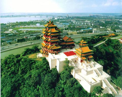南京阅江楼风景区02俯视图 阅江楼的图片 南京 江苏