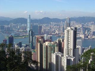 大平山顶俯瞰香港市区