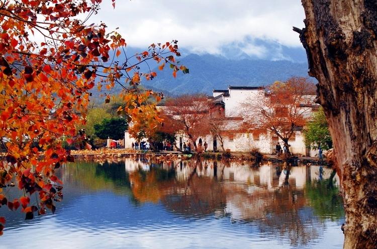 安徽宏村风景色彩临摹